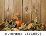 Fall Decorations By Wooden Fence