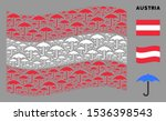 Waving Austria Flag. Vector...