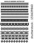 navajo border vector set  black ... | Shutterstock .eps vector #153639860