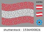 waving austrian official flag.... | Shutterstock .eps vector #1536400826