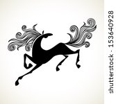 Vector Stylized Galloping Hors...