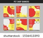 pet shop square banner template.... | Shutterstock .eps vector #1536413393