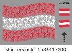 waving austria official flag....