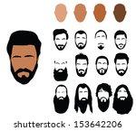 beard styles   Shutterstock .eps vector #153642206