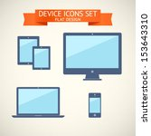 flat design devices set of...