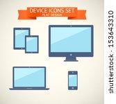 flat design devices set of...   Shutterstock .eps vector #153643310