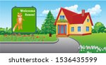 fairytale house of foxes in a... | Shutterstock .eps vector #1536435599