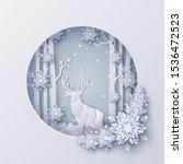 illustration of winter season... | Shutterstock .eps vector #1536472523
