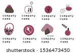 set of logo for start up ...   Shutterstock .eps vector #1536473450