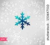 vector snowflake. abstract... | Shutterstock .eps vector #153647510