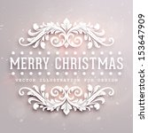 christmas typographic label for ... | Shutterstock .eps vector #153647909