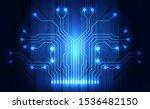 vector circuit board background ... | Shutterstock .eps vector #1536482150