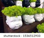Flower Pot Head Made Of Cerami...
