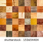 Collage Of Different Wooden...