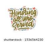 honoring all who served... | Shutterstock .eps vector #1536564230