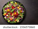 Plate Of Fresh Salad With...