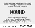 round alphabet font 2 model font | Shutterstock .eps vector #1536597749