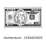 one hundred usa dollars cash... | Shutterstock .eps vector #1536601820