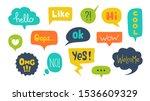 speech bubbles with text. hand... | Shutterstock .eps vector #1536609329