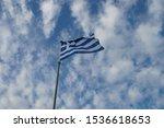National Flag Of  Greece  Blue...