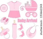 baby girl card designing...   Shutterstock .eps vector #153662243