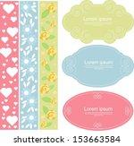 cute scrapbook elements | Shutterstock .eps vector #153663584