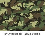 camouflage seamless pattern.... | Shutterstock .eps vector #153664556