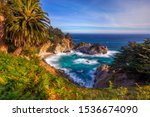 beautiful beach and sunset at... | Shutterstock . vector #1536674090