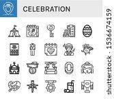 celebration icon set.... | Shutterstock .eps vector #1536674159