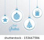 christmas background with... | Shutterstock .eps vector #153667586