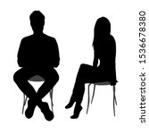 vector silhouettes of  man and... | Shutterstock .eps vector #1536678380
