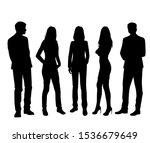 vector silhouettes of  men and... | Shutterstock .eps vector #1536679649