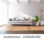 white living room interior with ... | Shutterstock . vector #1536683180