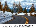 snow wall melting along the... | Shutterstock . vector #1536714920