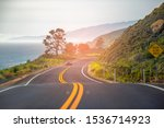 scenic winding road. beautiful... | Shutterstock . vector #1536714923