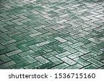 green brick paving stones on a... | Shutterstock . vector #1536715160