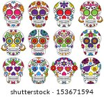 Vector Set Of Day Of The Dead...