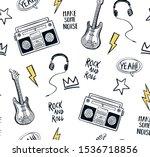 music theme vector seamless... | Shutterstock .eps vector #1536718856