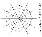 Spider Web Drawing. Hand Drawn...