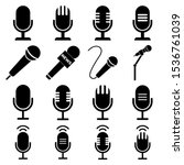 microphone set icon  logo...