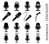 microphone set icon  logo...