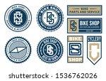set of vector bike shop ... | Shutterstock .eps vector #1536762026