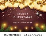 happy new year postcard vector...   Shutterstock .eps vector #1536771086
