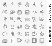 machine learning line icons set....   Shutterstock .eps vector #1536771950