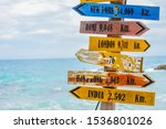 World Direction Signpost With...