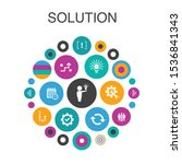 solution  infographic circle...