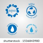 mineral water label and logo... | Shutterstock .eps vector #1536843980