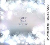 elegant christmas background... | Shutterstock .eps vector #153687200