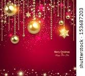 elegant christmas background...   Shutterstock .eps vector #153687203