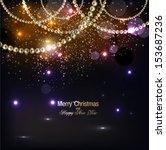 elegant christmas background... | Shutterstock .eps vector #153687236